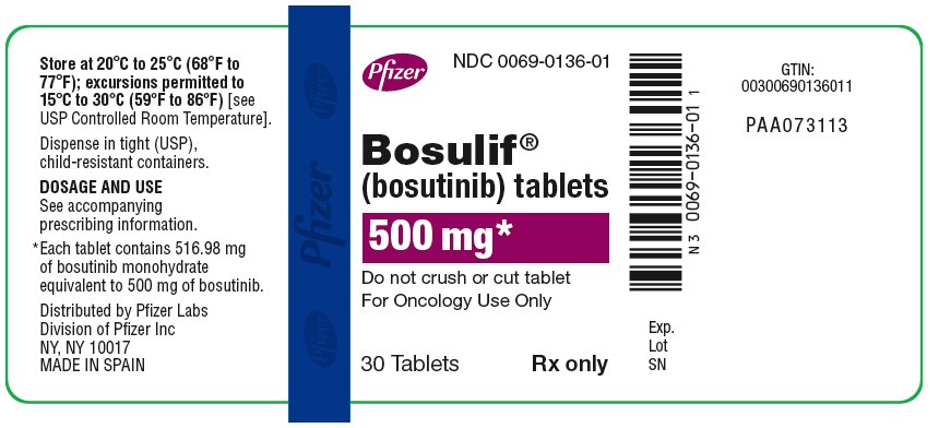 PRINCIPAL DISPLAY PANEL - 500 mg Bottle Label